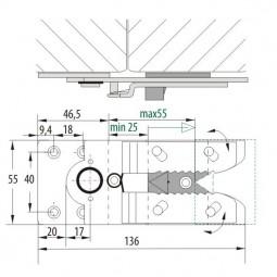 Соединитель мебельных элементов 384