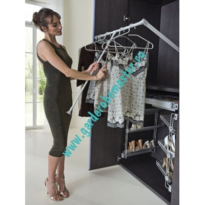 пантограф мебельный Лифт 700 для одежды в шкаф цвет серый