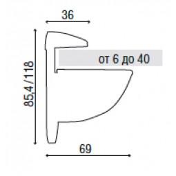 Полкодержатель Tucano 666 10С (7014 10C) алюминий