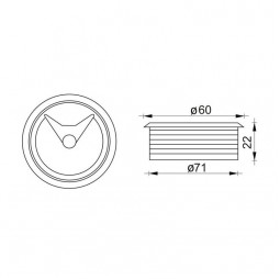 Заглушка кабель-канала 308 светло-коричневая