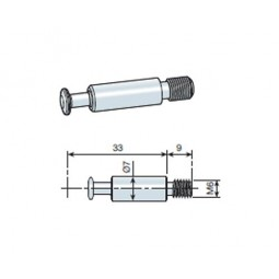 Крепежный винт эксцентрика М6 L33