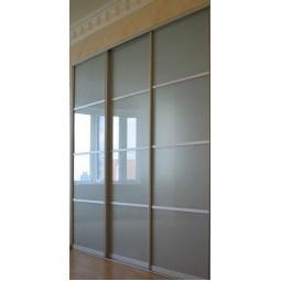 Двери Купе Комбинированные 4 секции разделенные по горизонтали (калькулятор цены)