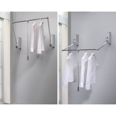 пантограф мебельный Лифт 800 для одежды на стену цвет серый