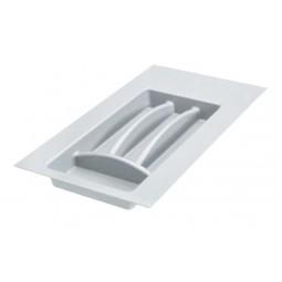 Лоток пластиковый для столовых приборов в модуль 300мм, цвет серый
