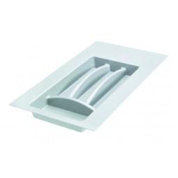 Лоток пластиковый для столовых приборов в модуль 300мм, цвет белый