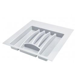 Лоток пластиковый для столовых приборов в модуль 500мм, цвет белый