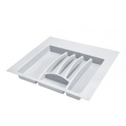 Лоток пластиковый для столовых приборов в модуль 600мм, цвет белый