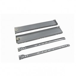 Металлический ящик 112 H118мм L500мм серый металлик