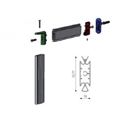 Slim 3520 алюминиевая стойка H=3000мм *цвет-черный