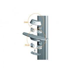 Stilos 7016 крепление для деревянных полок цвет алюминий