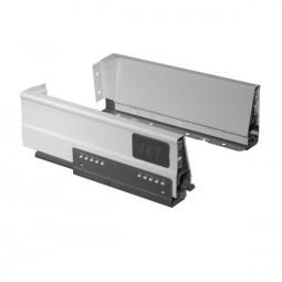 Двустенный металлический ящик 215 H86мм L270мм белый